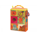 B-Toys Textilné kocky ABC Block Party