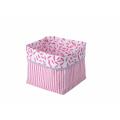 Kikadu textilná krabica ružová