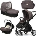 CasualPlay Set kočík Kudu 4 Black, autosedačka Baby 0plus, vanička Cot a Bag 2015 Lava Rock
