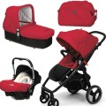 CasualPlay Set kočík Loop, autosedačka Baby 0plus, vanička Cot a Bag 2015 Raspberry