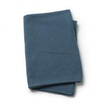 Elodie Details Bavlnená deka Moss Knitted Blanket Tender Blue