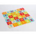 LUDI Puzzle 90x90 cm písmená a čísla 36 ks