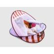 Ludi Cestovná postieľka/deka s hrazdou ružová