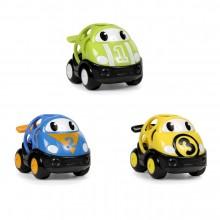 Oball pretekárske autíčka Herbie, Tom a Mike Go Grippers